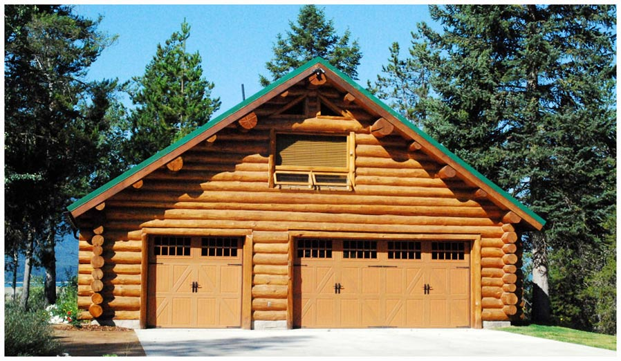 Wyoming shangri la ranch near jackson hole wyoming is a for Log garage designs